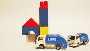 ゴミ処理施設とゴミ収集車