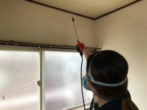 除菌消毒作業